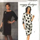 Butterick Sewing Pattern 4654 Misses Size 8-14 Lined Tiered Three Quarter Length Sleeve Dresses