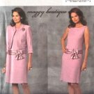Butterick Sewing Pattern 4655 Misses Size 6-8-10-12 Cropped Jacket Straight Sleeveless Dress