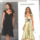 Butterick Sewing Pattern 4657 Misses Size 6-8-10-12 Formal Wrap Flared Skirt Dress