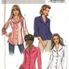 Butterick Sewing Pattern 4659 Misses Size 8-10-12-14 Easy Front Button Long Sleeve Fitted Shirts