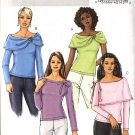 Butterick Sewing Pattern 4660 Misses Size 6-8-10-12 Easy Pullover Knit Tops Sleeve Drape Variations