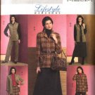 Butterick Sewing Pattern 4668 Misses Size 6-8-10-12 Easy Wardrobe Jacket Vest Straight Skirt Pants
