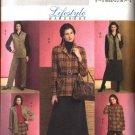 Butterick Sewing Pattern 4668 Misses Size 14-16-18-20 Easy Wardrobe Jacket Vest Straight Skirt Pants
