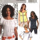 Butterick Sewing Pattern 4685 Misses Size 8-14 Easy Pullover Gathered Neckline Peasant Tops