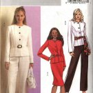 Butterick Sewing Pattern 4690 Misses Size 6-12 Easy Long Sleeve Jacket Straight Skirt Pants Suit