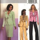 Butterick Sewing Pattern 4691 Misses Size 6-8-10-12 Easy Flounced Collar Jacket Skirt Pants Suit