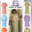 Butterick Sewing Pattern 4693 Womans Plus Size 18W-24W Easy Sheer Poncho Straight Dress