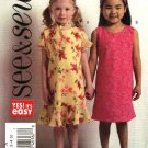 Butterick Sewing Pattern 4702 Girls Size 2-3-4-5 Easy Sleeveless Pullover A-Line Dress Scarf