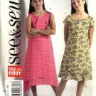 Butterick Sewing Pattern 4703 Girls Size 12-14-16 Easy Pullover Summer Dress Scarf