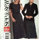 Butterick Sewing Pattern 4711 Misses Size 8-10-12-14 Easy Lined Jacket Short Sleeve Top A-Line Skirt