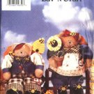 "Butterick Sewing Pattern 4755 13"" Decorative Stuffed Honey Bear Dolls Boy Girl"