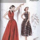 Butterick Sewing Pattern 4919 Misses Size 6-8-10-12 Easy Retro '52 Long Short Sleeveless Gown Dress