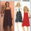 Butterick Sewing Pattern 5213 Misses Sizes 16-24 Easy Sleeveless Summer Dress Sundress Jacket