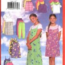 Butterick Sewing Pattern 5448 Girls Size 12-14-16 Easy Wardrobe Top Jumper Pants Shorts Dress