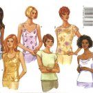 Butterick Sewing Pattern 5487 Misses Size 6-8-10 Easy Classic Pullover Tops Camisole