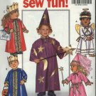 Butterick Sewing Pattern 5596 Toddler's Size 1-4 Easy Costumes Angel Princess Wizard King Queen