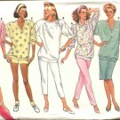 Retro Butterick Sewing Pattern 5602 Misses Size 6-14 Easy Wardrobe Knit Top Shorts Pants Skirt