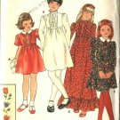 Butterick Sewing Pattern 5603 Girls Size 10 Raised Waist Short Long Sleeve Dress Embroidery Transfer
