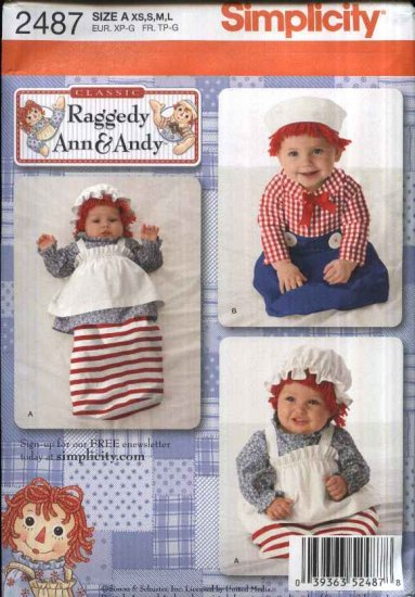 Simplicity Sewing Pattern Baby Infant Sizes