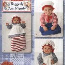 Simplicity Sewing Pattern 2487 Baby Infant Sizes XS-L Classic Raggedy Ann & Andy Costumes Buntings