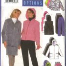 Butterick Sewing Pattern 5631 Misses Size 6-8-10 Easy Zipper Front Hooded Jacket Vest Skirt Pants