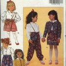 Butterick Sewing Pattern 5721 Girls Size 1-3 Easy Wardrobe Blouse Pants Skirt Jacket Purse