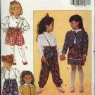 Butterick Sewing Pattern 5721 Girls Size 1-3 Easy Wardrobe Blouse Pants Skirt Jacket Purse