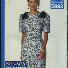 Butterick Sewing Pattern 5883 Misses Size 12-14-16 Easy Straight Dress