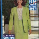 Butterick Sewing Pattern 5967 Misses Size 6-8-10 Easy Unlined Jacket, Pullover Top Straight Top Suit
