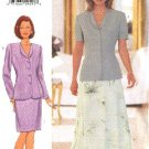 Butterick Sewing Pattern 5999 Misses Size 14-16-18 Long Short Sleeve Jacket Straight A-Line Skirt
