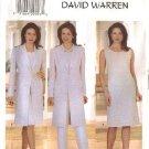 Butterick Sewing Pattern 6001 Misses Size 14-16-18 Wardrobe Long Jacket Straight Dress Top Pants