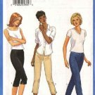 Butterick Sewing Pattern 6022 Misses Size 18-22 Easy Knit Close Fitting Tapered Cropped Long Pants
