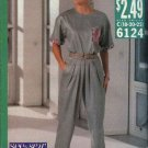 Butterick Sewing Pattern 6124 Misses Size 18-20-22 Easy Pleated Pants Pullover top
