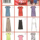 Butterick Sewing Pattern 6140 Misses Size 8-12 Easy A-Line Pullover Dress Length Sleeve Neck Options