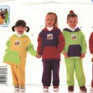 Butterick Sewing Pattern 6228 Boys Girls Size 4-6 Easy Teletubbies ™ Fleece Top Pants Transfers