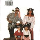 Butterick Sewing Pattern 6295 Size Boys Girls 2-8 Pirate Costumes Top Pants Skirt Belt Headband
