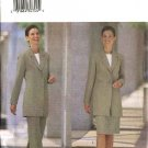 Butterick Sewing Pattern 6337 Misses Size 12-14-16 Easy Long Lined Jacket Straight Skirt Pants Suit