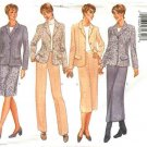 Butterick Sewing Pattern 6343 Misses Size 6-8-10 Wardrobe Button Front Jacket Straight Skirt Pants