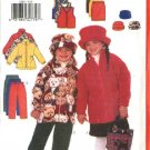 Butterick Sewing Pattern 6366 Girls Size 2-5 Easy Wardrobe Fleece Jacket Vest Skirt Pants Hat