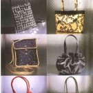 Butterick Sewing Pattern 6371 Fashion Evening Bags Purses Handbags