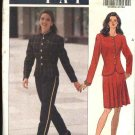 Butterick Sewing Pattern 6408 Misses Size 6-8-10 Easy Button Front Jacket Pleated Skirt Long Pants