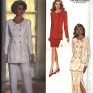Butterick Sewing Pattern 6414 Misses Size 18-22 Double Breasted Top Long Short Straight Skirt Pants