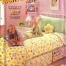Butterick Sewing Pattern 6494 Teen Bedroom Home Décor Dust Ruffle Duvet Cover Book Caddy