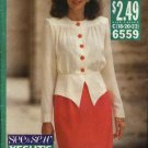 Butterick Sewing Pattern 6559 Misses Size 18-22 Easy Straight Skirt Button Front Blouson Peplum Top