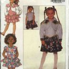 Butterick Sewing Pattern 6607 Girls Size 5-6-6x Easy Sleeveless Full Skirt Dress Cropped Jacket