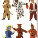 Butterick Sewing Pattern 6695 Boys Girls Size 1-6 Six Easy Costumes Dog Tiger Dinosauer Santa Claus