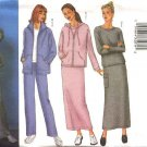 Butterick Sewing Pattern 6709 Misses Size 6-8-10 Easy Wardrobe Zipper Front Jacket Top Skirt Pants
