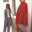 Butterick Sewing Pattern 6824 Misses Size 18-20-22 Easy Long Vest Short A-Line Skirt Straight Pants