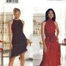 Butterick Sewing Pattern 6868 Misses Size 6-8-10 Easy Halter Top Lined Flared Skirt Sleeveless Dress