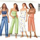 Butterick Sewing Pattern 6883 Misses Size  6-14 Easy Pullover Camisole Pull On Pants Length Options